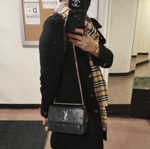 🆕 Saint Laurent YSL SUNSET Crock Effect Bag